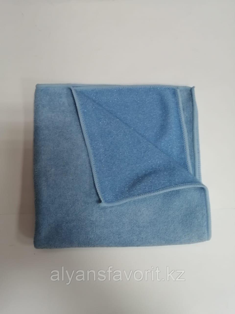 Тряпочка (салфетка) микрофибра с пластиковым абразивом 40*40 см. - фото 2