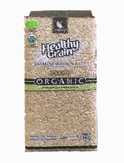 Органический Рис Жасмин Коричневый Healthy Grain
