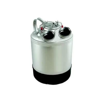 Емкость металлическая для промывки на 2 фитинга, 9л (без фитингов)