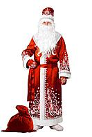 Batik Костюм Дед Мороз сатин аппликация красный взр (5350-1)
