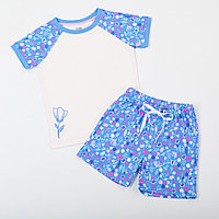 Batik Костюм футболка с шортами для девочки (00089_ВАТ)
