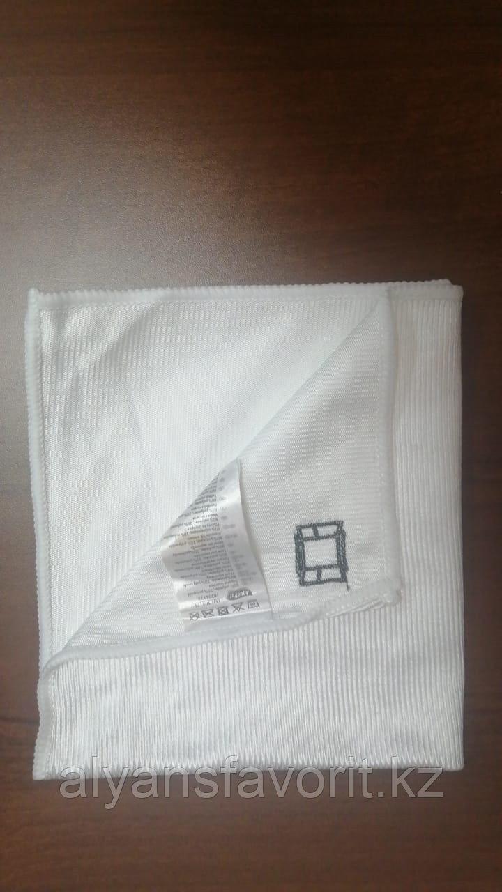 Тряпочка (салфетка) микрофибра для стекл и зеркал  35*35 см. гладкая .