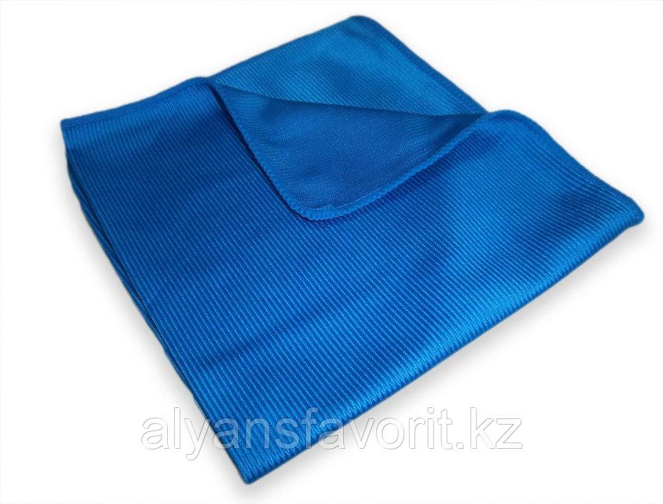Тряпочка (салфетка) микрофибра для стекл и зеркал 30*30 см. гладкая