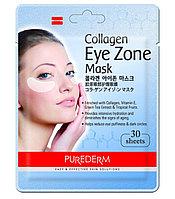 Патчи тканевые 30шт для области вокруг глаз с коллагеном Purederm Collagen eye zone mask