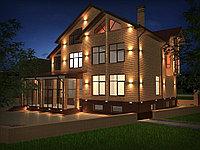 Архитектурное освещение частного дома