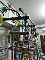Детский спортивный комплекс с кольцами и канатом Юный Атлет