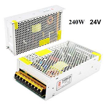 Блок питания 24V 10A 240W, открытый. Трансформатор 220В-24В, 240 Ватт. Блоки питания импульсные 24 вольт.