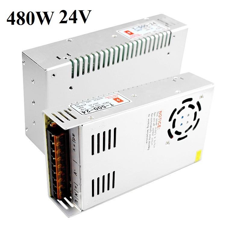Блок питания 24V 20A 480W, открытый. Трансформатор 220В-24В, 480 Ватт. Блоки питания импульсные 24 вольт.