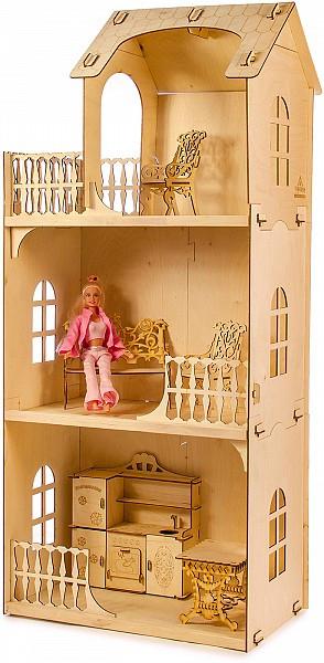 """Теремок Сборная деревянная модель """"Кукольный домик Любава"""""""