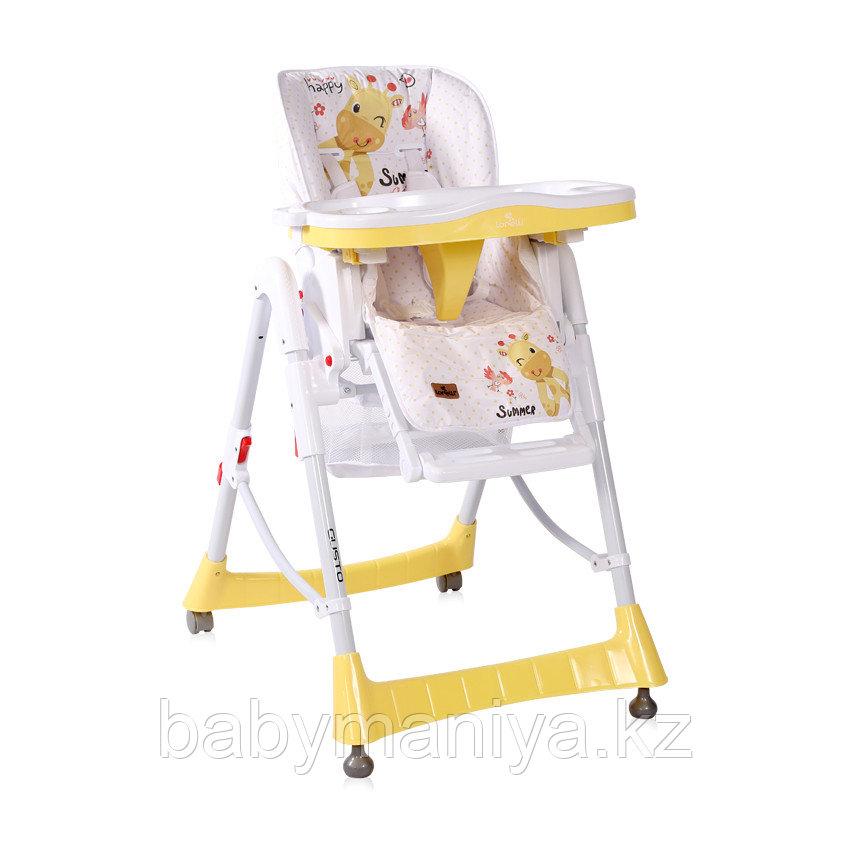 Стульчик для кормления Lorelli GUSTO Желтый / Yellow GIRAFFE 2035