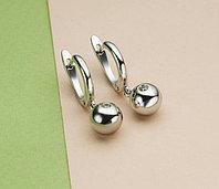Серьги из серебра с бриллиантом, фото 1