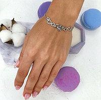 Браслет из серебра с бриллиантом, фото 1
