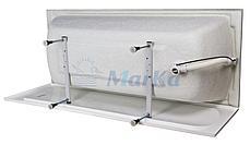 Акриловая прямоугольная ванна Виола 120*70 см. 1 Marka. Россия (Ванна + ножки), фото 3