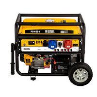Генератор бензиновый PS 90 ED-3, 9.0 кВт, переключение режима 230 В/400 В, 25 л, электростартер Denzel, фото 1