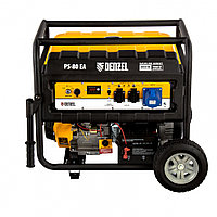 Генератор бензиновый PS 80 EA, 8.0 кВт, 230 В, 25 л, коннектор автоматики, электростартер Denzel