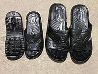Шлепки мужские 41-45, резиновые литые черные Яблоко А-100,