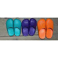Шлепки детские резин. кроксы (закрытые), код1303