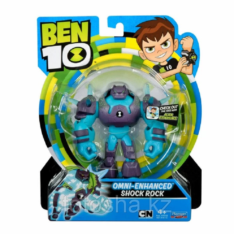 """Ben 10 """"Шок Рок (омни-усиленный)"""" фигурка 12.5 см,  76115"""