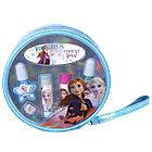 Игровой набор детской декоративной косметики для губ и ногтей в косметичке Frozen, круглый