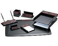 Набор настольный Delucci 7 предметов, черный, дерево/декоративный камень