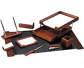Набор настольный Delucci 9 предметов, темно-коричневый орех