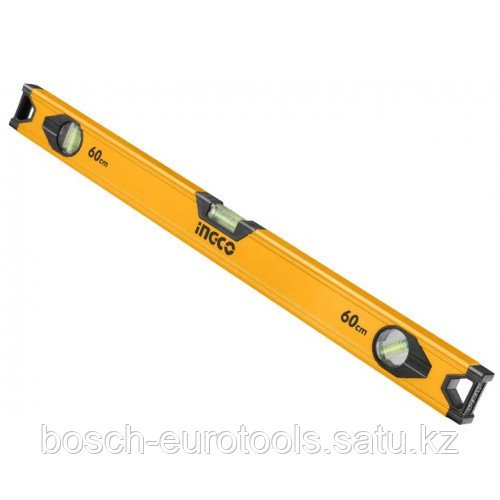 Строительный алюминиевый уровень 60 см INGCO HSL18060