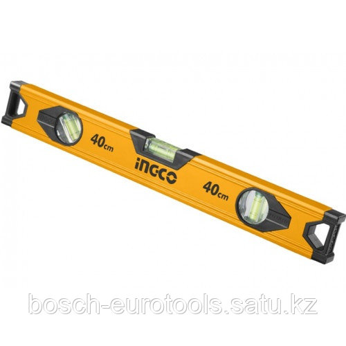 Строительный алюминиевый уровень 40 см INGCO HSL18040