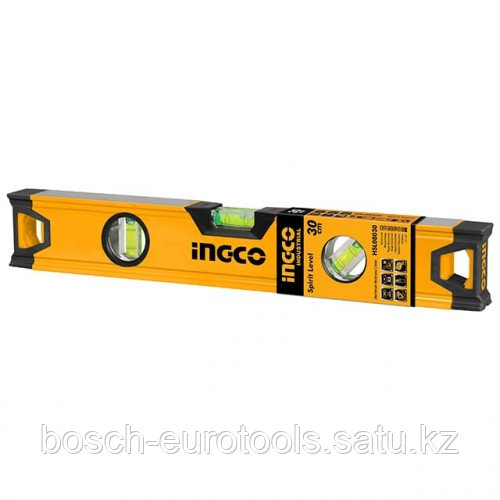 Строительный алюминиевый уровень 30 см INGCO HSL08030 INDUSTRIAL