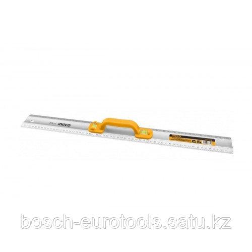Линейка алюминиевая с ручкой 60 см INGCO HAR01060