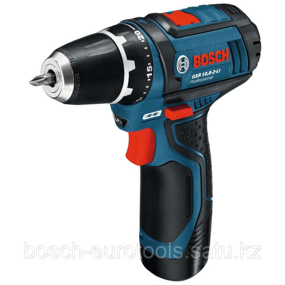 Bosch GSR 10.8-2-LI Professional (2.0 Ah x 2. L-BOXX)
