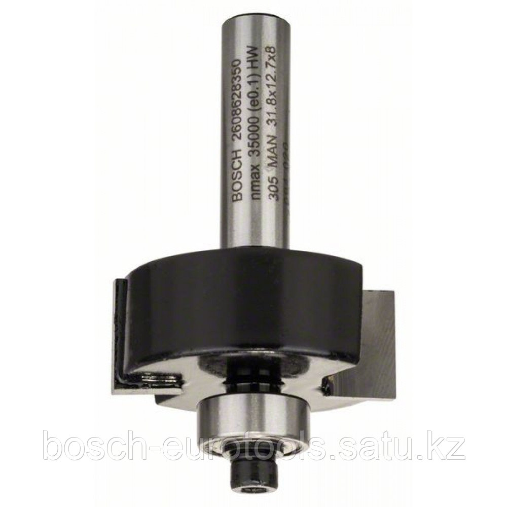 Фреза для выборки паза 8 mm. B 9.5 mm. D 31.8 mm. L 12.5 mm. G 54 mm