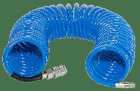FUBAG Шланг спиральный с фитингами рапид, полиуретан, 15бар, 8x12мм, 10м