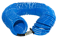 FUBAG Шланг спиральный с фитингами рапид, полиуретан, 15бар, 6x10мм, 15м