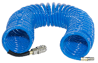 FUBAG Шланг спиральный с фитингами рапид, полиуретан, 15бар, 6x10мм, 10м
