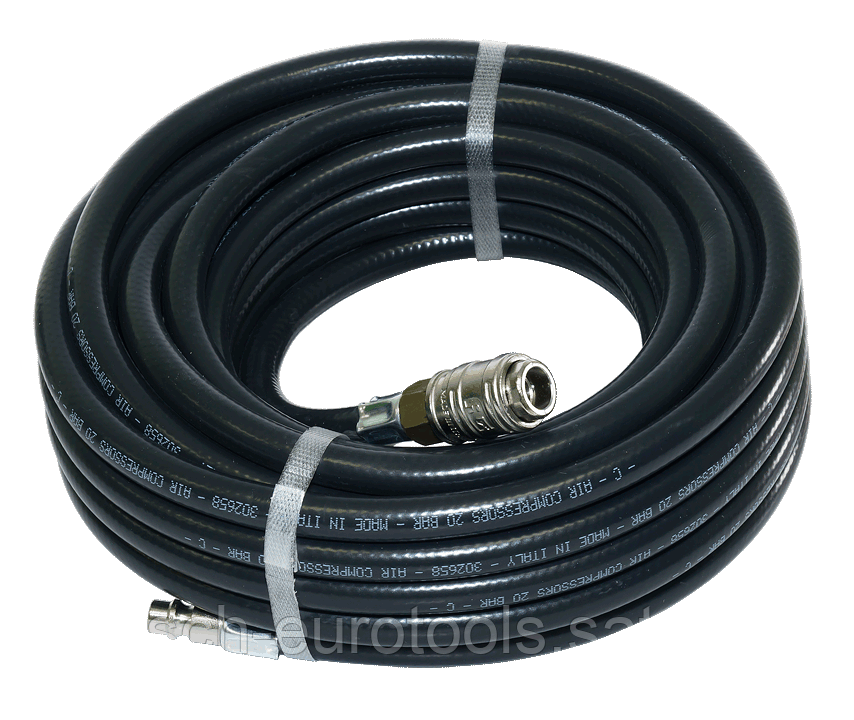 FUBAG Шланг с фитингами рапид, маслостойкая термопластичная резина, 20бар, 6x11мм, 20м