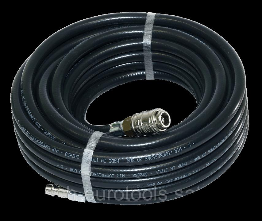 FUBAG Шланг с фитингами рапид, маслостойкая термопластичная резина, 20бар, 10x15мм, 10м
