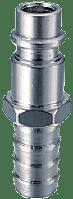 FUBAG Разъемное соединение рапид (штуцер), елочка 10мм с обжимным кольцом 10x15мм, блистер 1 шт