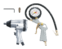 FUBAG Набор пневмоинструмента 2 предмета (пневмогайковерт 312 Нм + пневмопистолет для накачки шин с