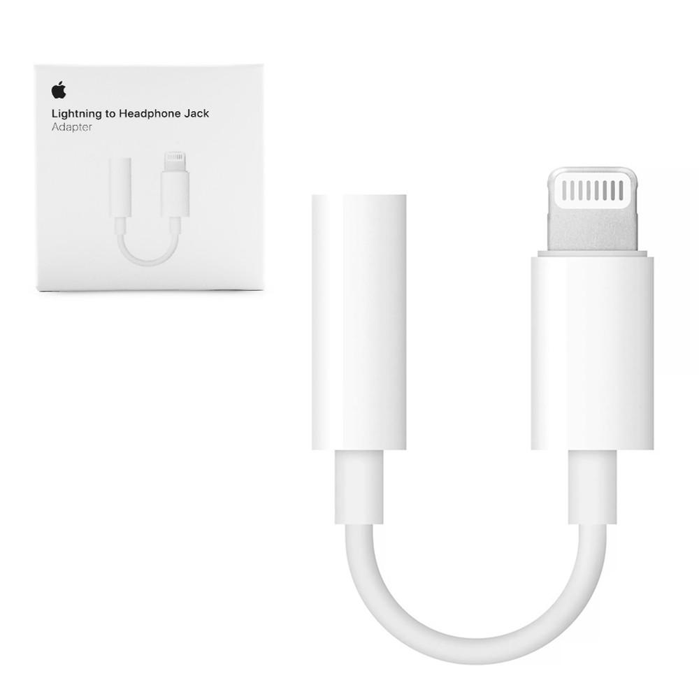 Адаптер Apple Lightning to 3.5 mm Headphone Jack Adapter Original White