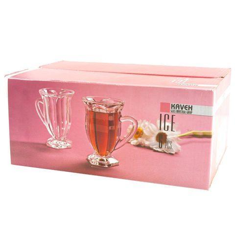 Набор стеклянных кружек для чая и кофе KAVEH ICE [6 шт.] - фото 4