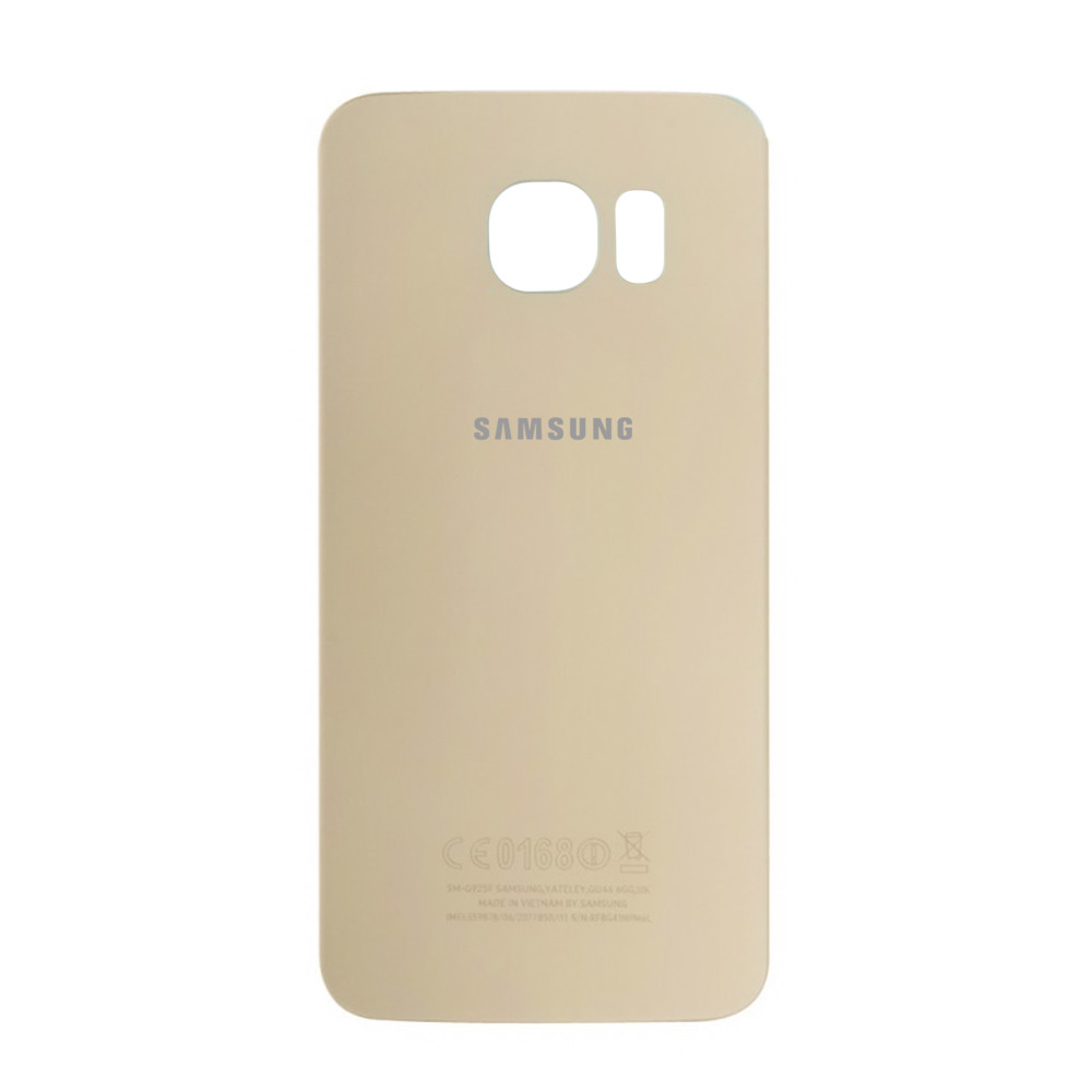 Задняя крышка Samsung Galaxy S6 Edge G925 Gold (71)