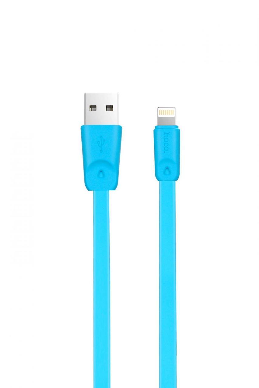 Кабель Apple lightning Hoco X9 Rapid 1.0m Blue