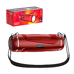 Портативная акустическая система Bluetooth Borofone BR7 Led Flashlight IPX5, Red