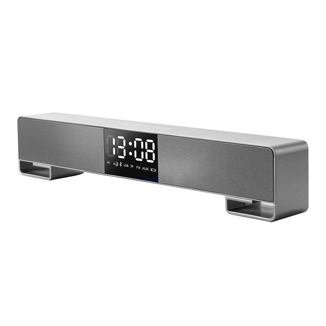 Портативная акустическая система Bluetooth Joyroom JR-M05 Desktop Clock Wireless Speakers Silver