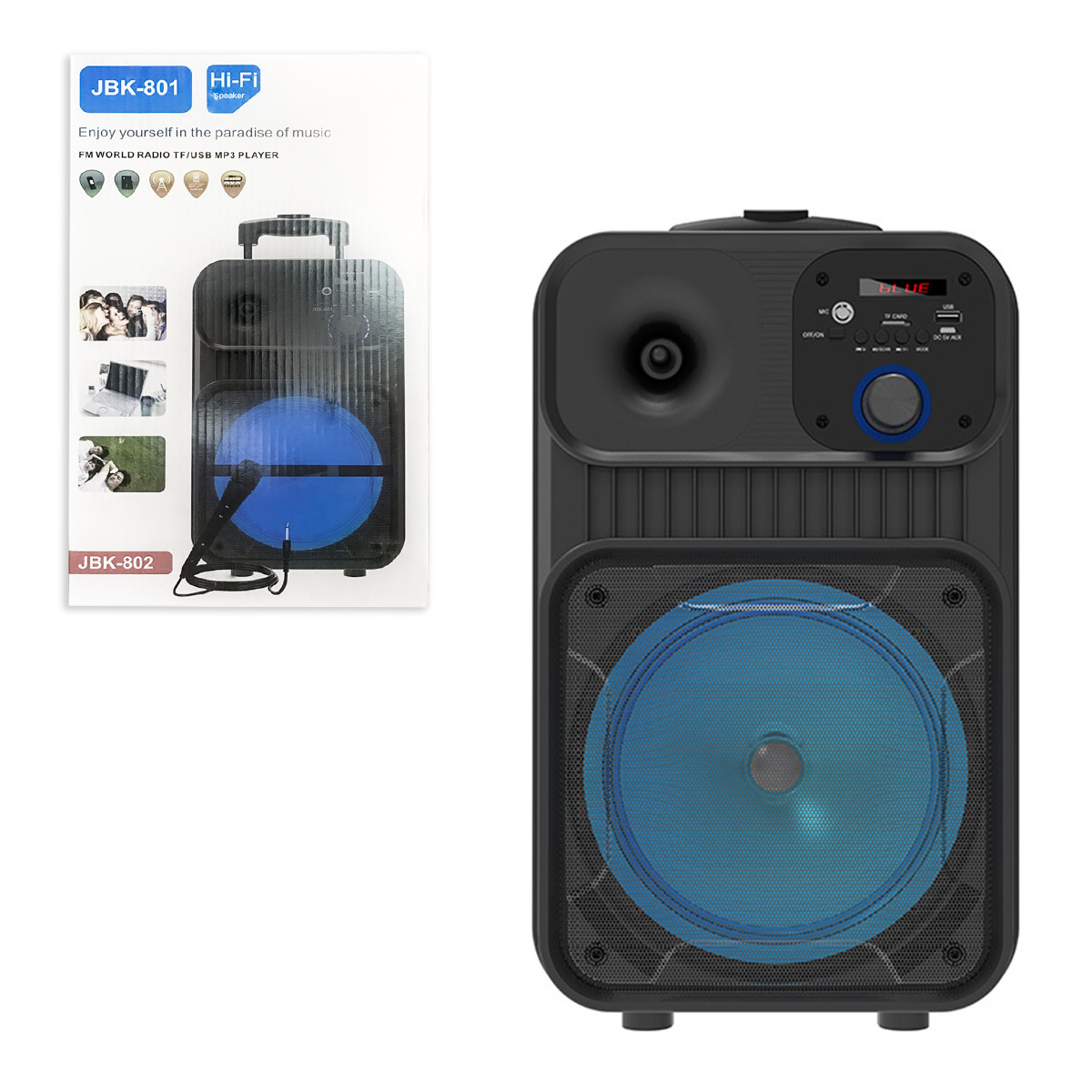 Портативная караоке-система Bluetooth JBK 801, Black