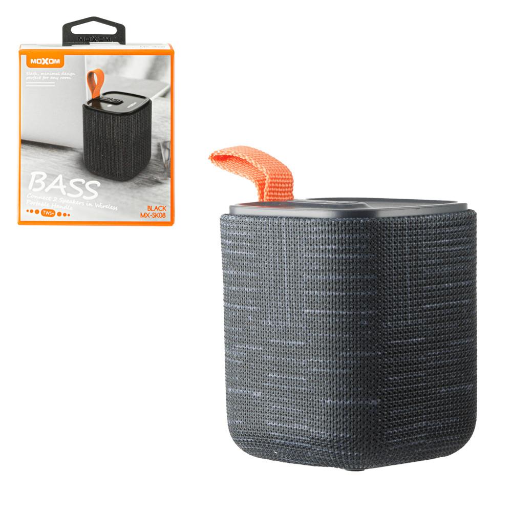 Портативная акустическая система Bluetooth Moxom MX-SK08, Black