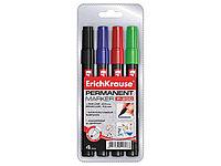 Набор перманентных маркеров ERICH KRAUSE, 4 цвета