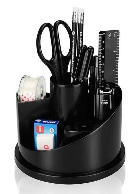 """Настольный набор DELI """"E38251A"""", 16 предметов, черный"""