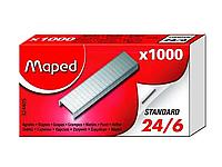 Скобы MAPED для степлера №24/6, 1000 шт/кор