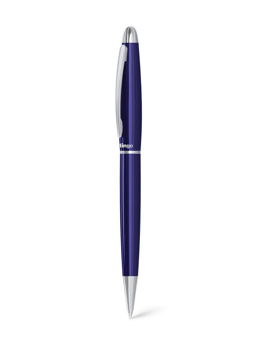 """Ручка подарочная Berlingo """"Velvet Standard"""" шариковая 0,7мм, корпус серебро, синяя"""